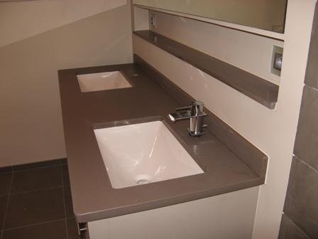 Entablement de salle de bains