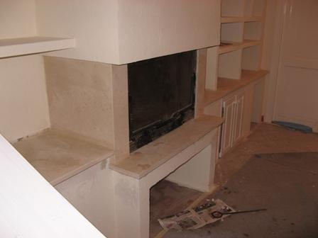 Une chemin e avant apr s marbrerie proven ale - Relooker une cheminee avant apres ...