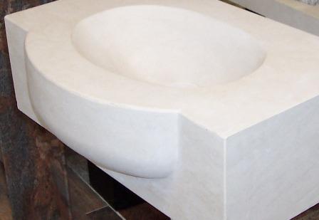 petite vasque massive en moca crème